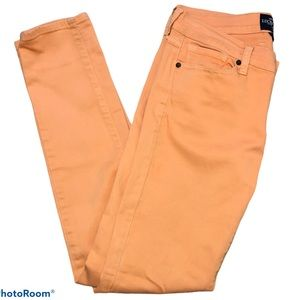 Lucky Brand Charlie Skinny Jeans pale orange 8